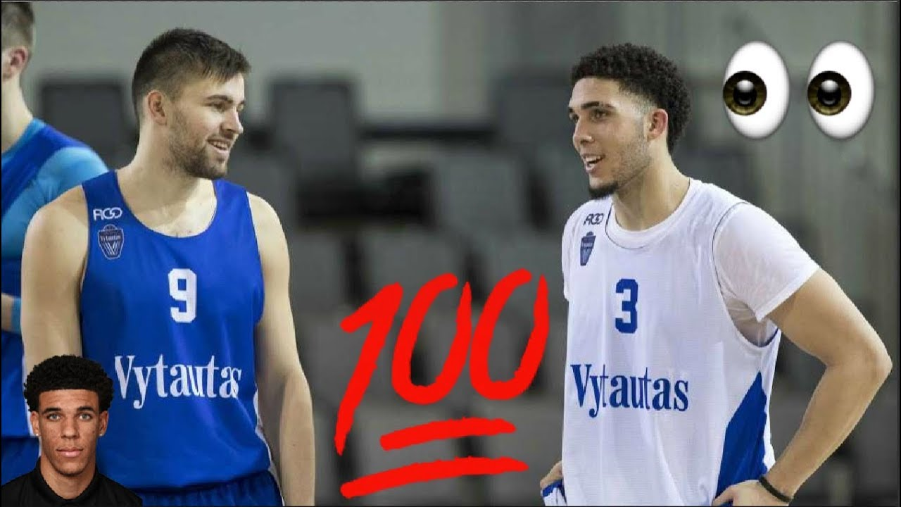 94028fdc41e LiAngelo Ball And LaMelo Ball First Official Team Practice in Lithuania -  Ball Family In Lithuania
