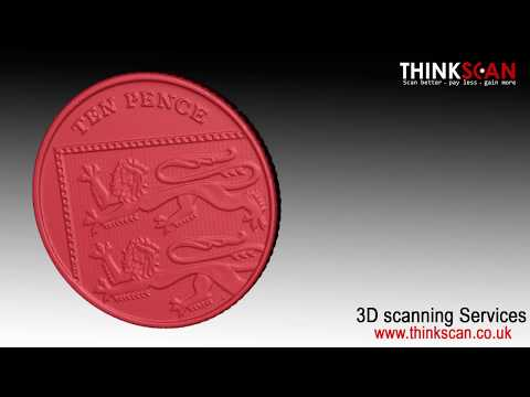 Coin 3D scanning. High resolution 3D digitizing service