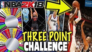 WHEEL OF THREE POINT RATINGS! NBA 2K18 MYTEAM