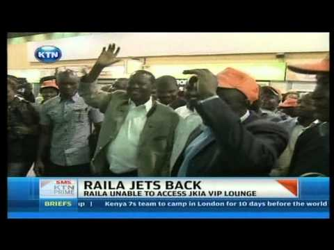 Former PM Raila Odinga jets back from South Africa