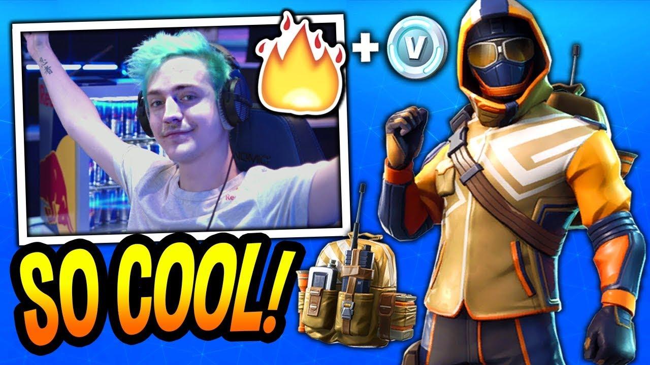 ninja-reacts-to-new-summit-striker-skin-starter-pack-fortnite-funny-epic-moments
