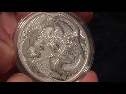 2017 Dragon & Phoenix Silver Coin