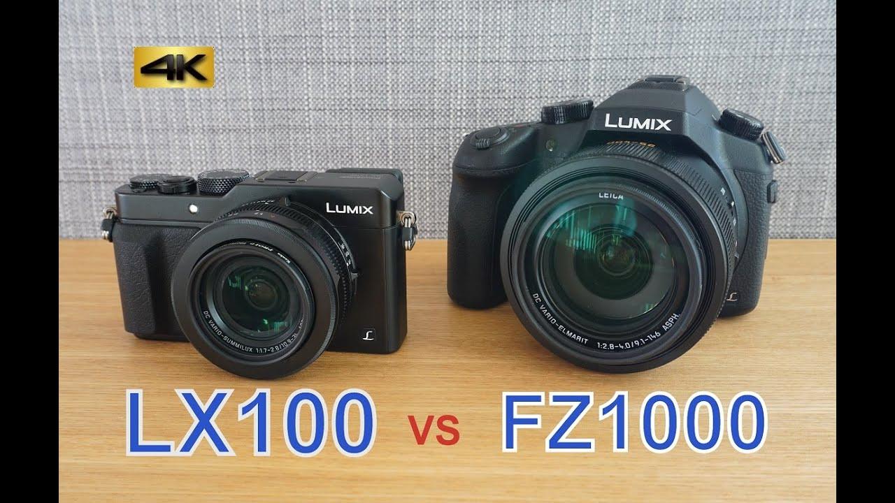 4k movie comparison lx100 vs fz1000 panasonic lumix youtube