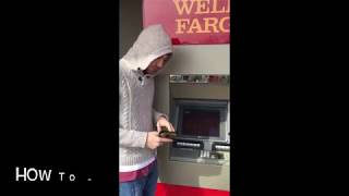 How to use the Wells Fargo ATM