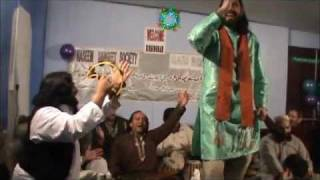 QARI WAHEED CHUSHTI DANCING DURING QAWALI IN NASIM SANGEET SOCIETY.