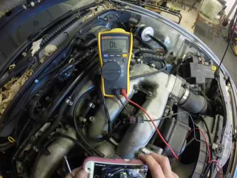 Ohm Testing Coil Pack And Fuel Injector Of Nissan 300ZX