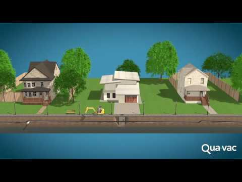 QUAVAC Vacuflow Vacuum Sewer system VS Gravity sewer system   YouTube