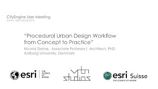 CEUM 2019 Procederal Urban Design Workflow from Concept to Practice