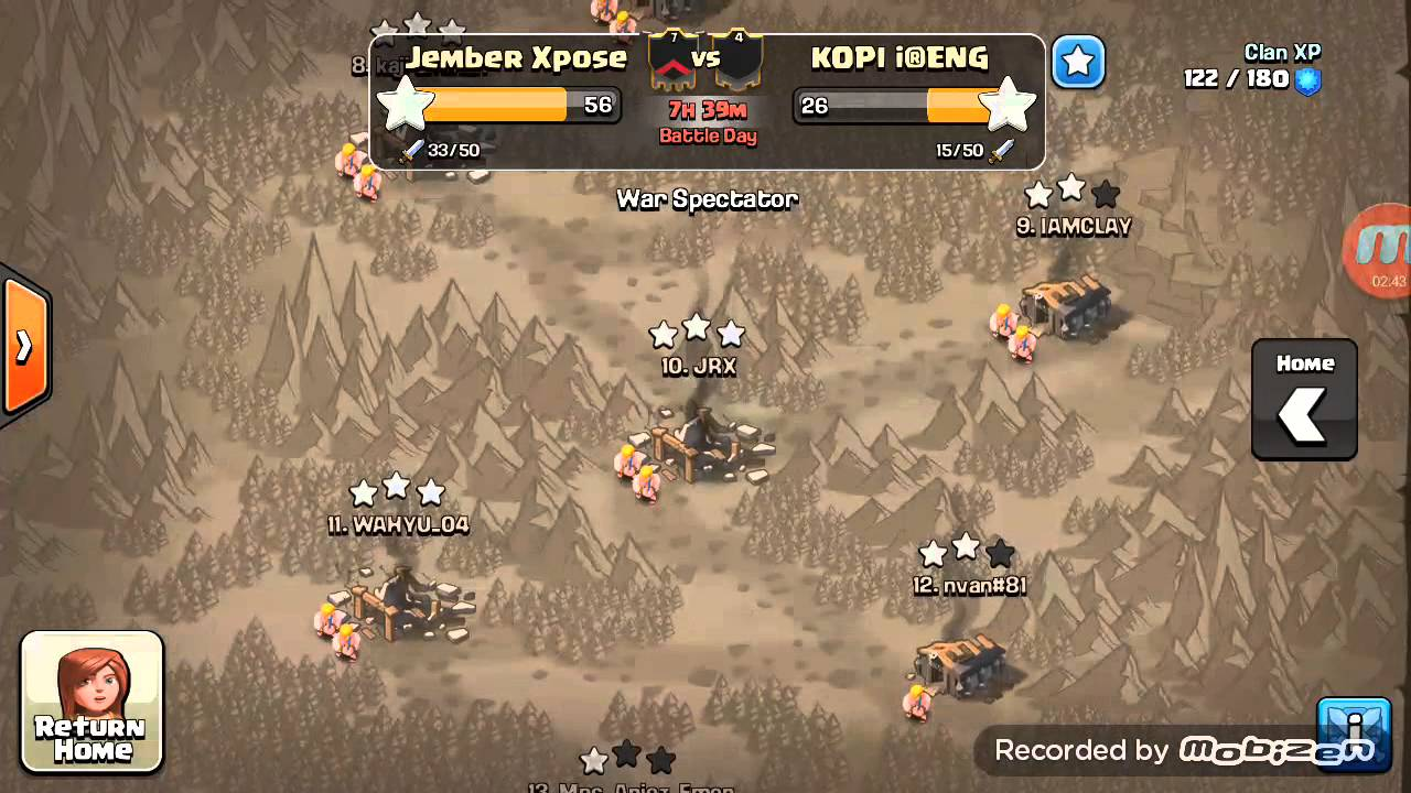 jember xpose coc clan war attack kopi ireng 02 youtube