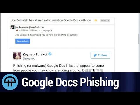 Google Docs Phishing Attack