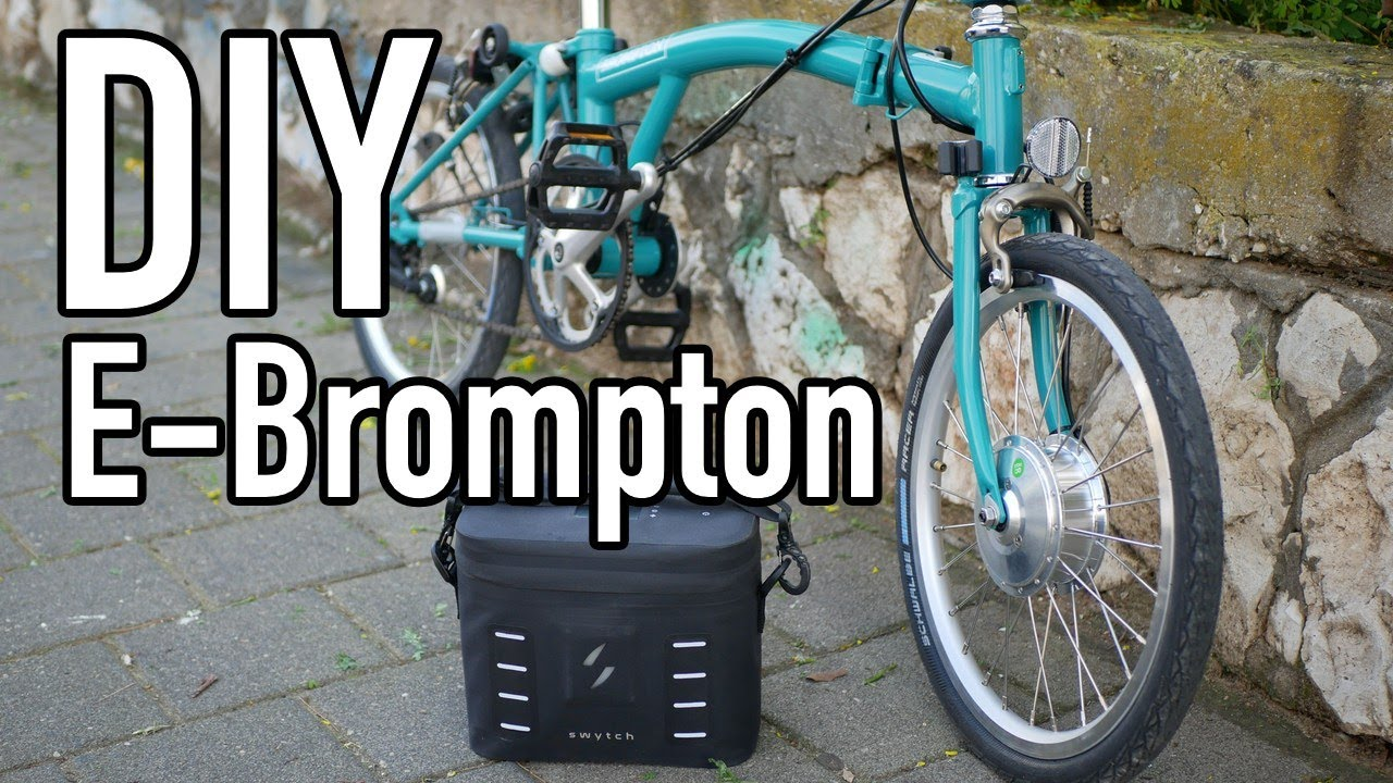 DIY electron Brompton bike with Swytch kit