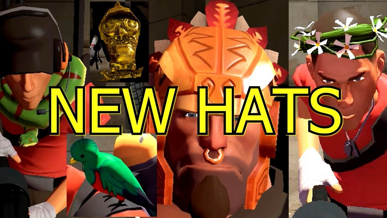 TF2: Abominable and Unleash the Beast Cosmetic Case Hats Items In-Game  Showcase ►Jungle Inferno◄