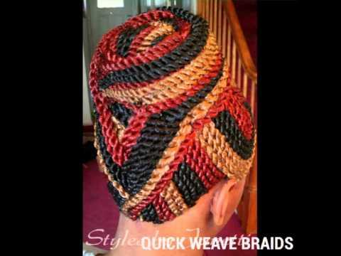 QUICK WEAVE BRAIDS BONDED BRAIDS GLUE ON BRAIDS - YouTube