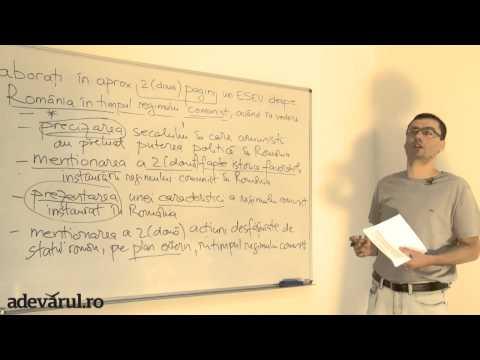 BACALAUREAT 2013 A cincea lecţie video adevarul.ro: proba scrisă la Istorie