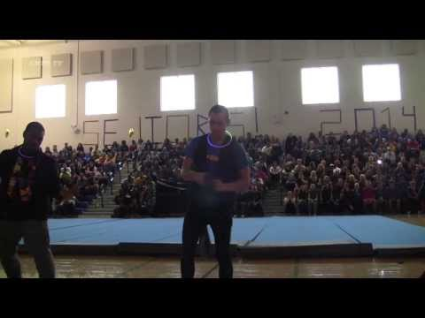 Animated Dancers Crete Monee High School Pep Rally 2013