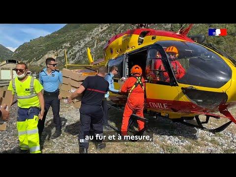 #TempêteAlex La Sécurité civile et la Gendarmerie présents jour après jour pour aider les sinistrés