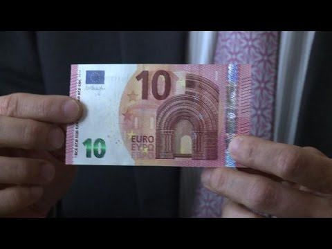 European Central Bank launches new 10-euro banknotes