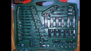 Обзор большого набора инструмента Sata в чемодане
