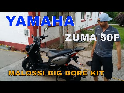 Yamaha Zuma, C3, and Vino Malossi big bore kit with tuner