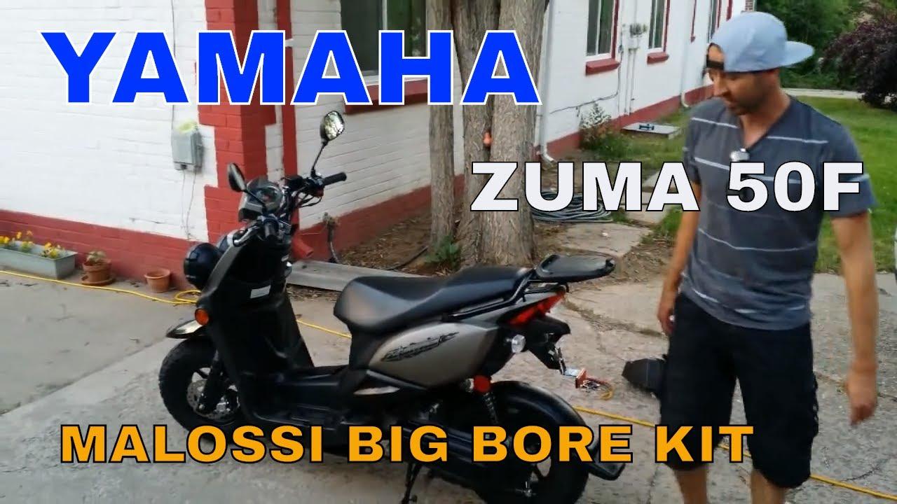 Yamaha Zuma, C3, and Vino Malossi big bore kit with tuner