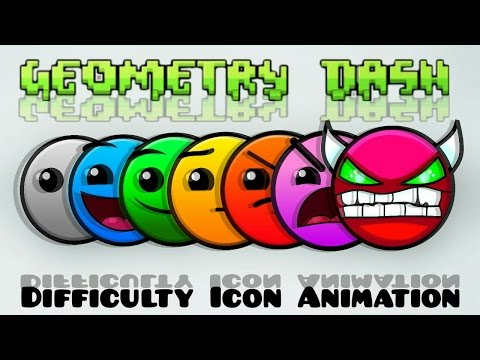 Geometry Dash - Difficulty Icon Animation