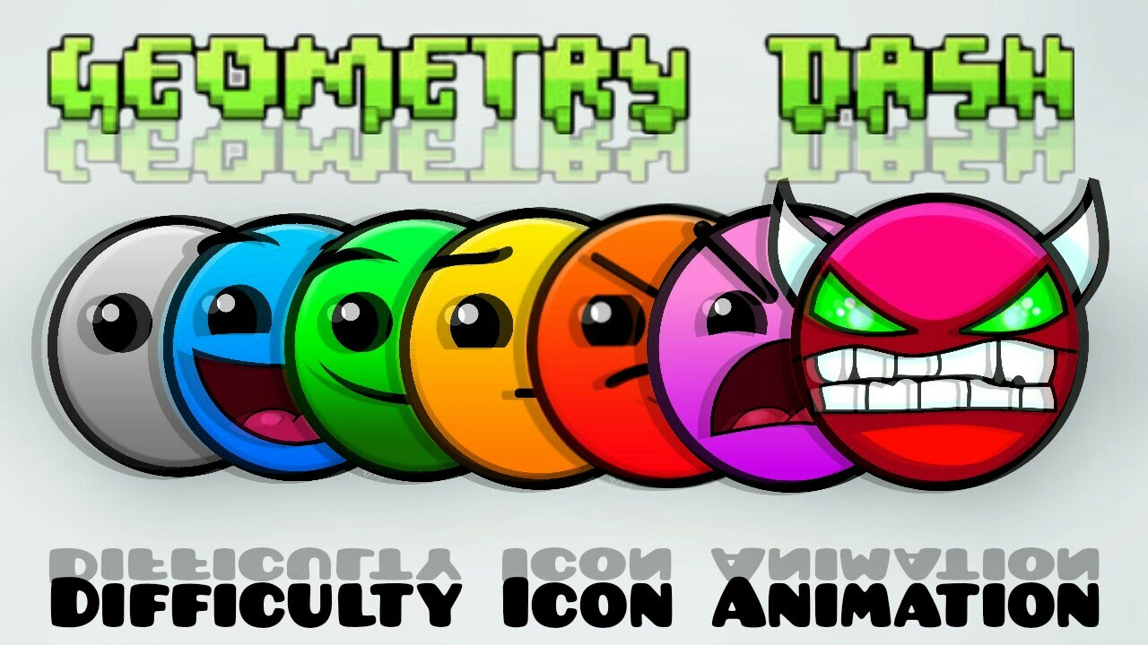 Geometry Dash Difficulty Icon Animation Youtube
