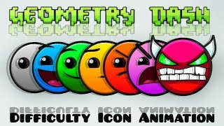 Geometry Dash - Difficulty Icon Animation thumbnail