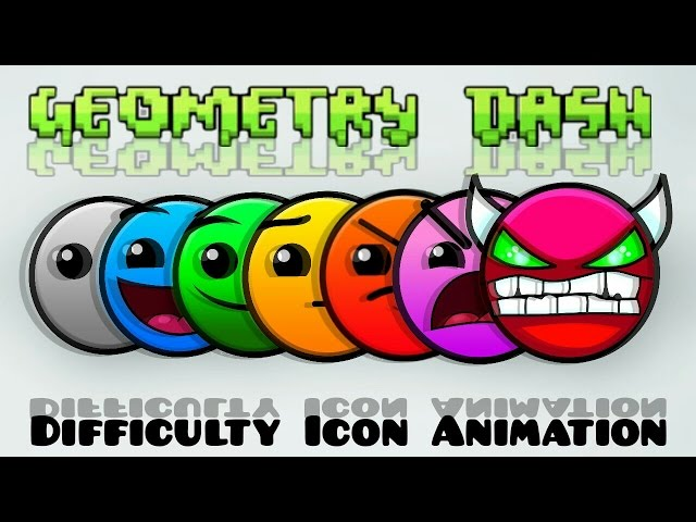 Geometry Dash Difficulty Icon Animation Clipfail