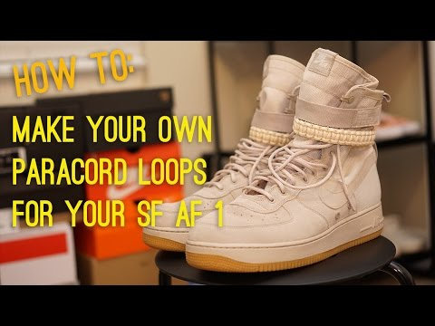 How to make your own Nike SF AF1 paracord straps (For $6)