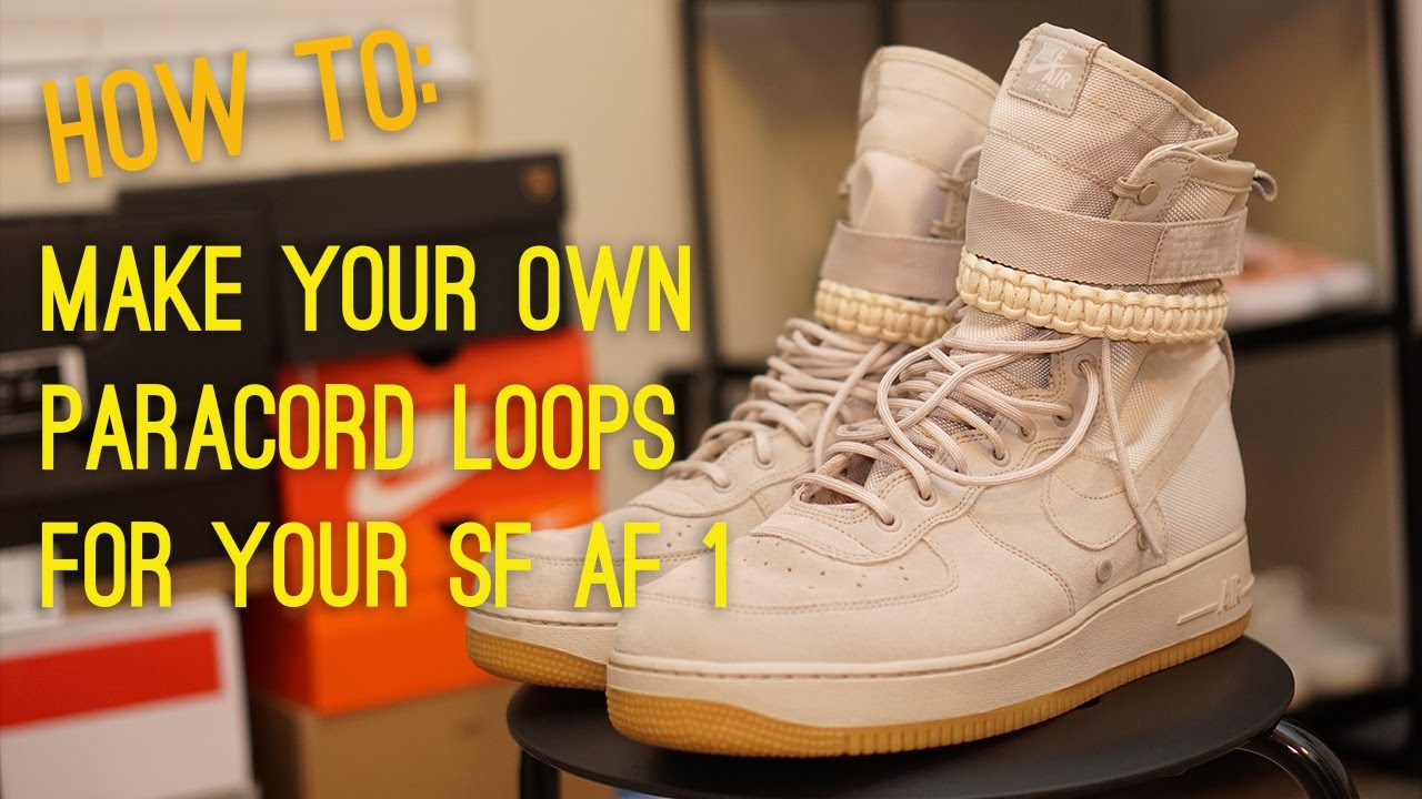 own Nike SF AF1 paracord straps
