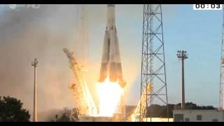 Launch of Arianespace Soyuz VS07 Sentinal-1A radar sat from Kourou