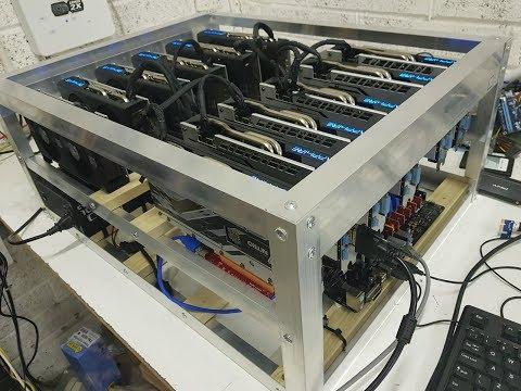 12xamd RX570 Gpu 320mh Ethereum Mining Rig Built On Ethos.