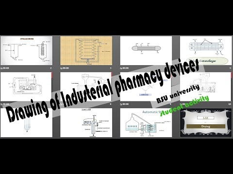 Drawing of pharmaceutical industry devices - Faculty of pharmacy Beni-suef university