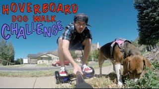 HOVERBOARD DOG WALK CHALLENGE!!