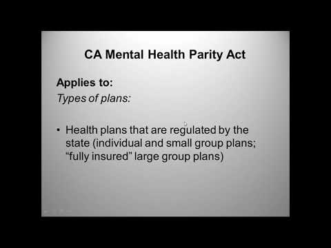 Mental Health Parity: Ensuring Equal Access to Treatment for Children and Youth in California