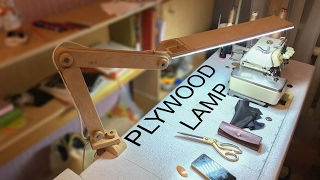 Plywood LED Desk Lamp You Can Make in One Day!
