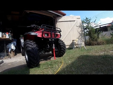 ATV winch installation on Honda TRX300 Fourtrax