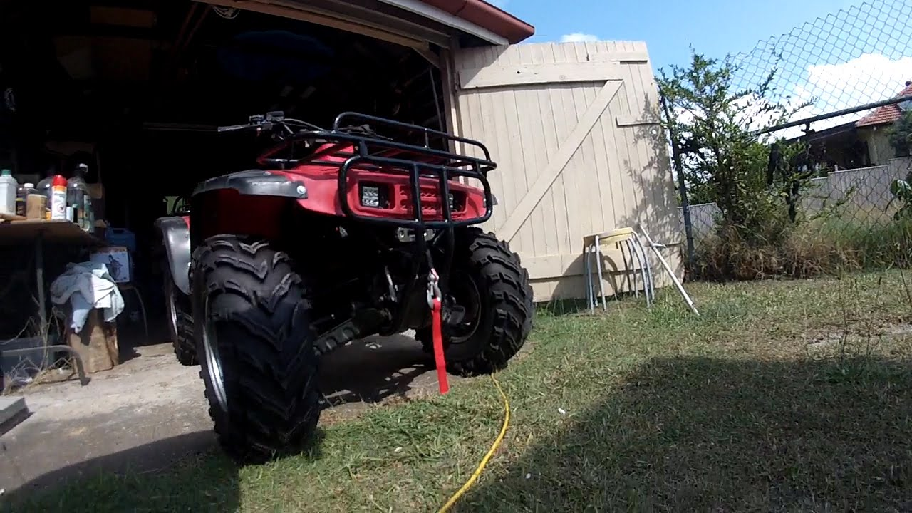 atv winch installation on honda trx300 fourtrax [ 1280 x 720 Pixel ]