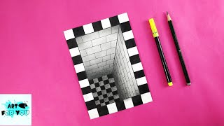 Very Easy!! How T๐ Draw 3D Hole Illusion - 3D Trick Art On Paper | 3D Drawing Hole Easy | 3D Drawing