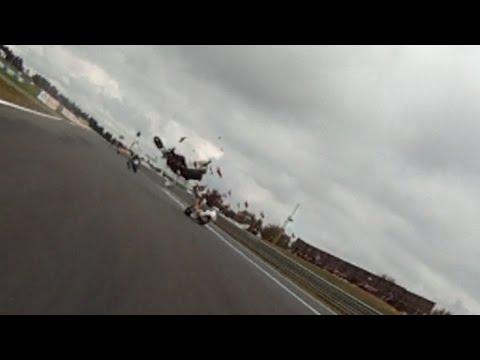 sickening crash motorcycle racing Wakefield Park