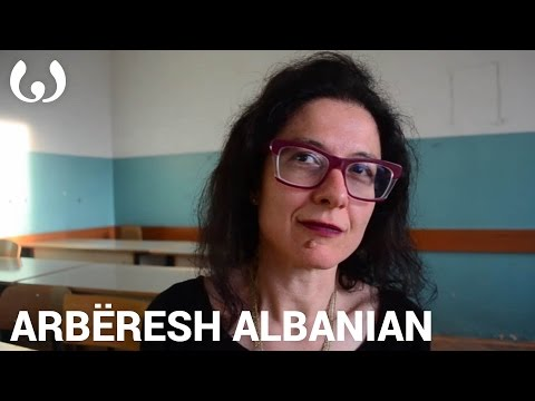 WIKITONGUES: Giuseppina speaking Arbëresh Albanian