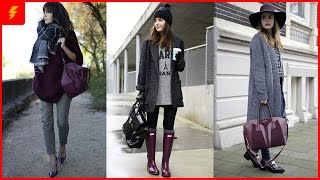 How to Wear Burgundy and Grey for This Season