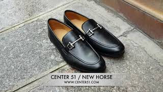 Video: Moccasin shoe Center 51 New horse black leather