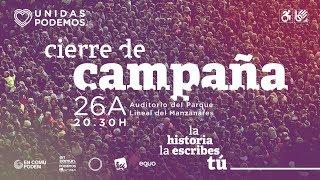 Acto de cierre de campaña de Unidas Podemos en Madrid