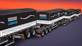 ЧЕТВЕРНАЯ СЦЕПКА. ПАК ПРИЦЕПОВ - Euro Truck Simulator 2 (1.28.1.3s)