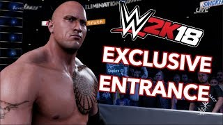 WWE 2K18 Exclusive Entrance - The Rock in the Elimination Chamber! PS4Pro #EntranceMania @TheRock