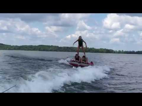 Water Tube Acrobatics on Lake Mendota