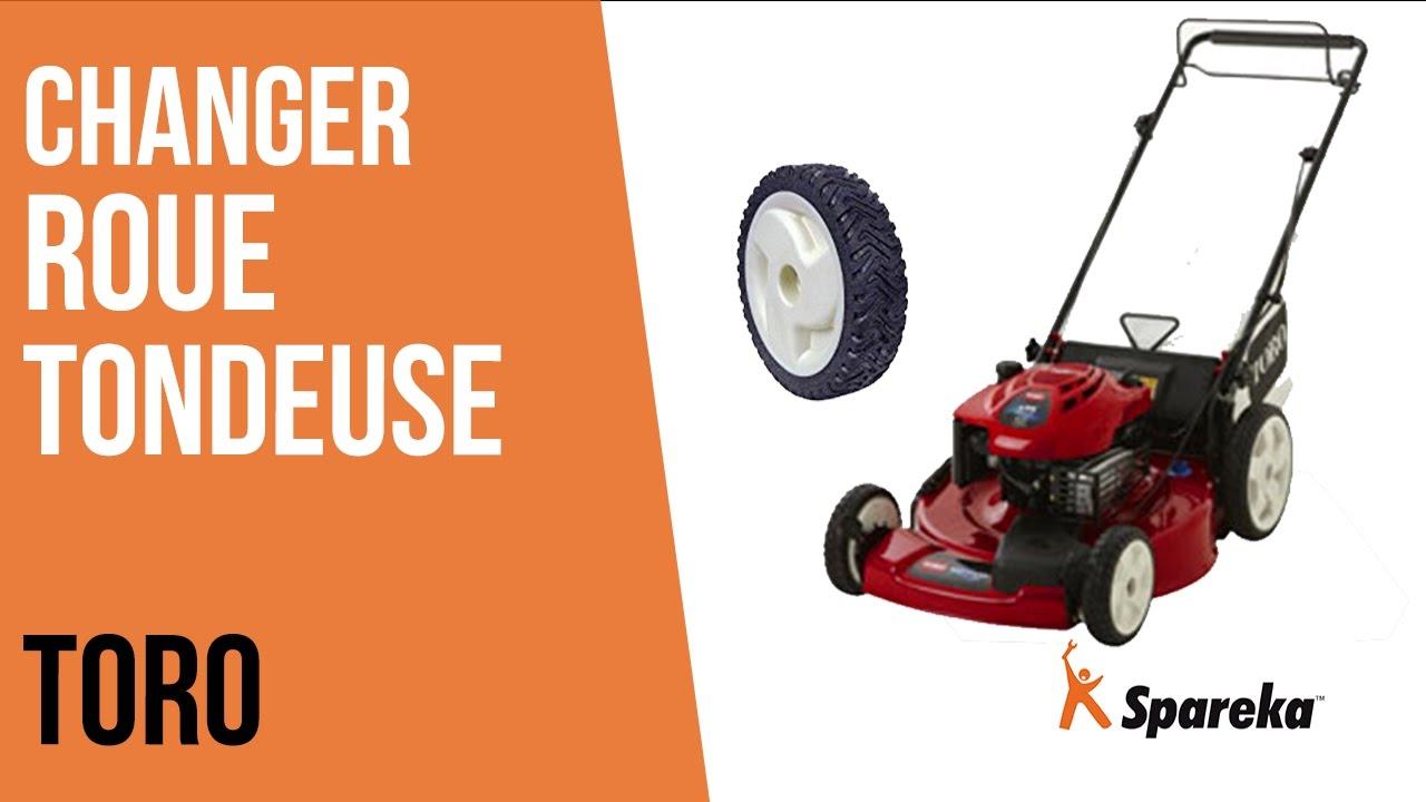 Comment changer la roue de sa tondeuse thermique toro youtube - Roue de tondeuse ...