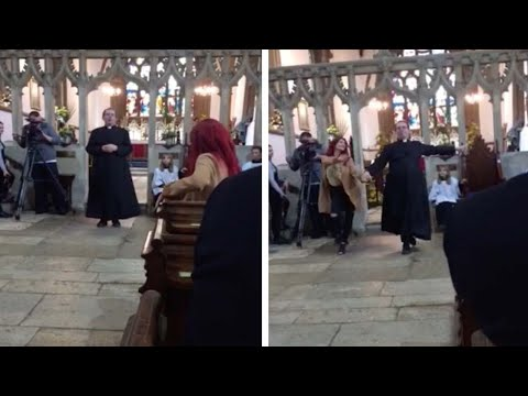 Reverend Richard Coles Dancing During Church Service