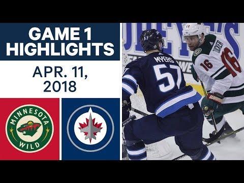 NHL Highlights | Wild vs. Jets, Game 1 - Apr. 11, 2018